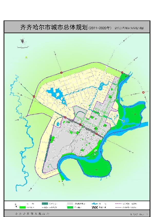 一、城市概况   齐齐哈尔市位于黑龙江省西部,松嫩平原中央,辖区面积42469平方公里。北与本省黑河市接壤,西邻内蒙古自治区呼伦贝尔市,东、南与本省大庆市和吉林省白城市相连。市域的西、北有大、小兴安岭环抱,嫩江由北向南贯穿全境。   齐齐哈尔市辖讷河、克山、龙江、富裕、依安、拜泉、甘南、泰来、克东9县(市),规划基年(2009)市域户籍总人口571.